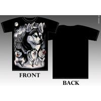 T_shirt A Pack Of Huskies