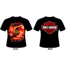 T_shirt Harley-Davidson - Wolf & Eagle