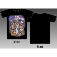 T_shirt Wolf family